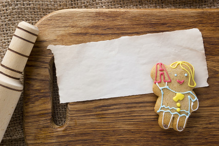 Cookies in the shape of man, profession teacher Stock Photo
