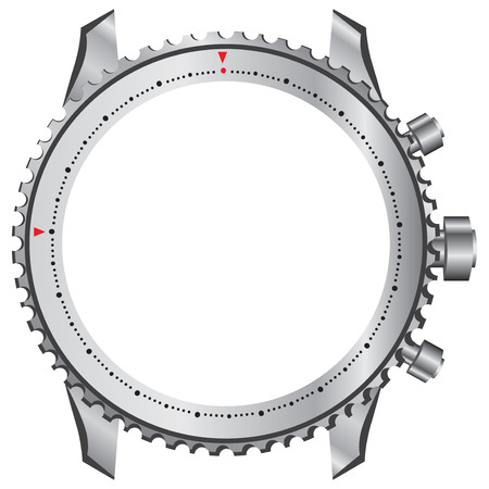 Framework: Technical framework for watches without dial and mechanism. Illustration