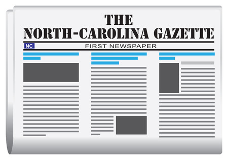 gazette: Abstract newspaper of North Carolina in the United States. North Carolina Gazette.