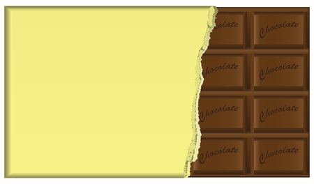 Dark chocolate, chocolate bar shape of the standard in the package.