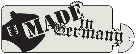 made in germany: Styling symbol Made in Germany. Illustration