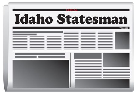 statesman: Newspaper in Idaho State - Idaho Statesman. Illustration