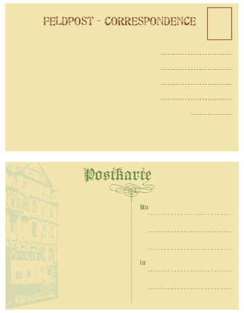 Vintage postcards of Germany. Abstract background for post card.