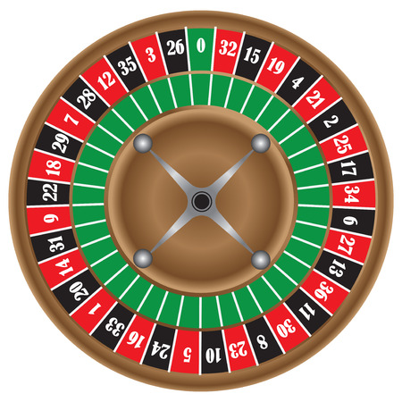 The classic game of roulette wheel. Vector illustration.
