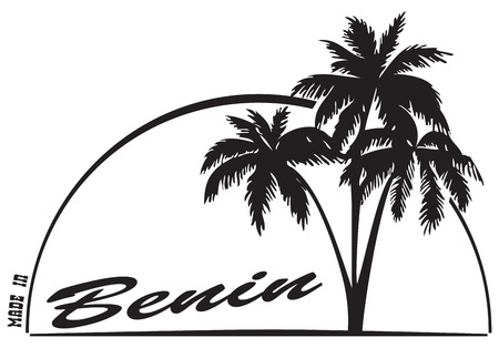 ベナン - ヤシの木のスタンプ押印は。