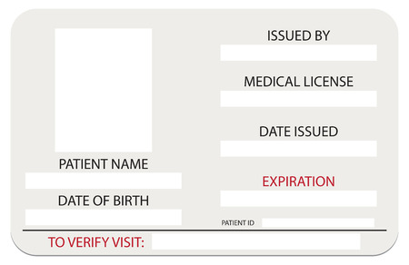 admittance: The patients medical card, patient identification form.