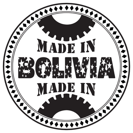 Round the stamp imprint of Made in Bolivia Иллюстрация