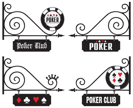 venue: Options street signs at the venue of poker events