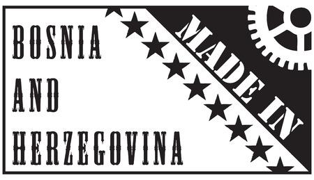 Creative afdruk van het stempel Made in Bosnië en Herzegovina. Stock Illustratie