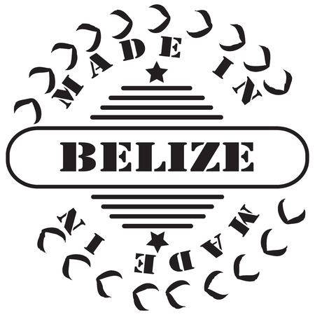 imprint: Stamp imprint Made in Belize