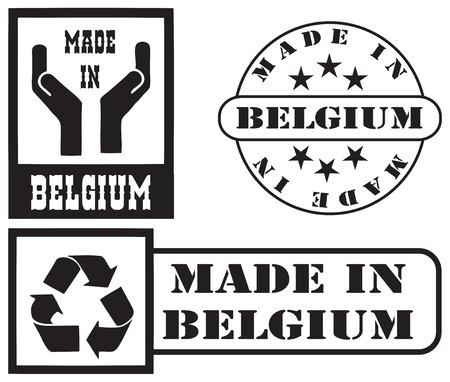 imprints: Set stamp imprints Made in Belgium