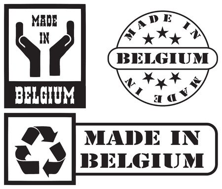 Set stamp imprints Made in Belgium