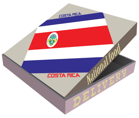 Creative packaging for the delivery of food, the elements of statehood Costa Rica.