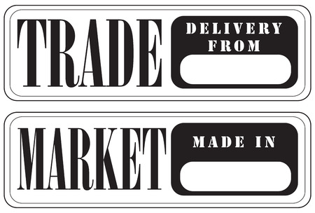 Stamp prints for trade and the market. The impression is made as a label.