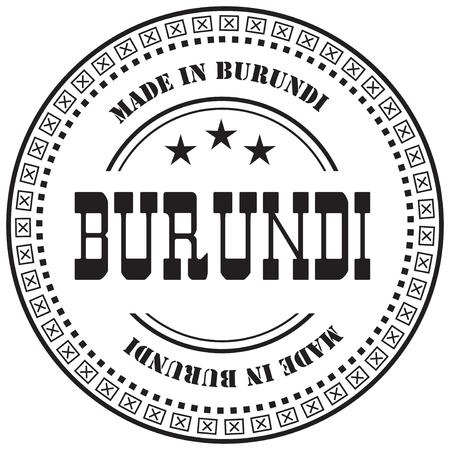 Stamp mark Made in Burundi. Industrial production in Burundi. Ilustração