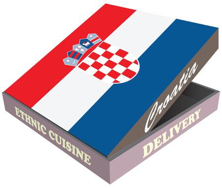 Box for delivery of food, the national symbol of Croatia. Ilustração