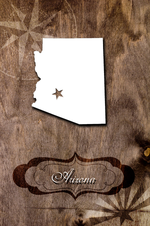 compass rose: The poster for the State of Arizona. Creatively made poster.