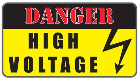 Ostrzeżenie płyty elektryczne zagrożenia wysokiego napięcia znak. Ilustracje wektorowe