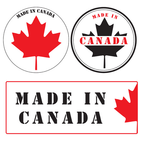Labels and Stamp imprints - Made in Canada.