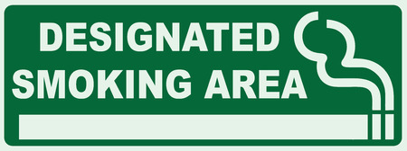 Smoking area sign. Green Sign - Smoker Zone Signage  イラスト・ベクター素材