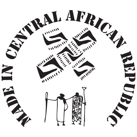central african republic: Made in Central African Republic - the stamp imprint for products made in the Central African Republic.