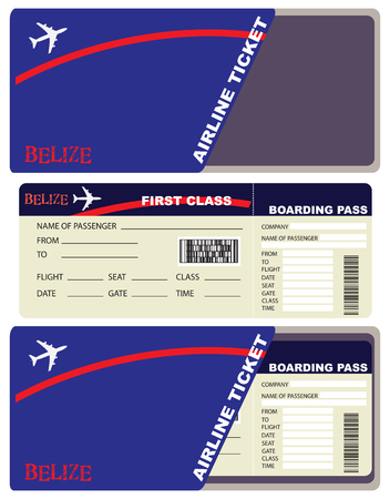 avia: First-class ticket on the plane to Belizes.