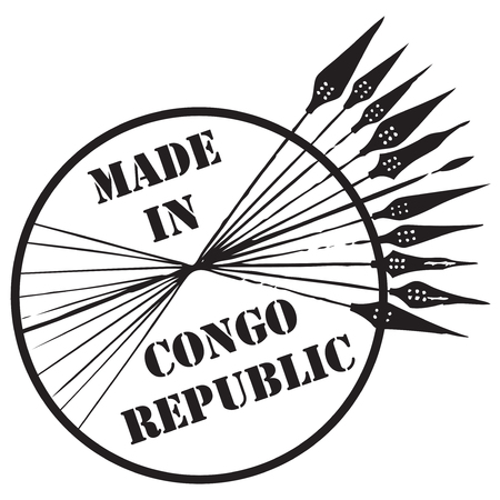 콩고 공화국에서 만든 스탬프입니다. 벡터 일러스트 레이 션