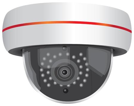 Outdoor Video Security Camera. Vector illustration.