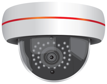 Outdoor Video Security Camera. Vector illustration.