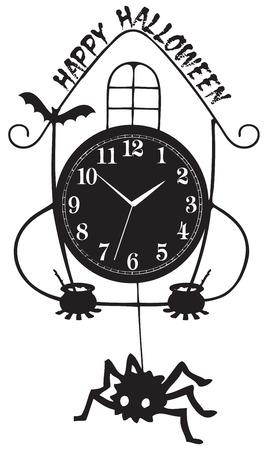 추상 빈티지 해피 할로윈 축하 시계.