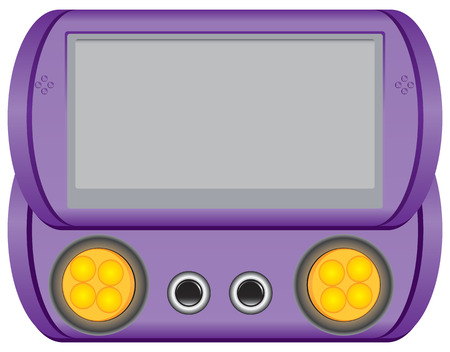 Games panel screen control for small children. Illustration