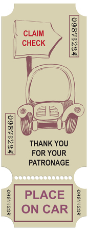 Vintage card - permission for parking. The old ticket.