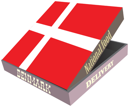Cooking the Denmark, Cardboard box for food delivery.