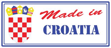 Makeshift stamp Made in Croatia. Vector illustration. Ilustração