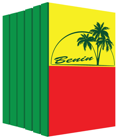 palm reading: Books about the country of Benin. Symbol flag.