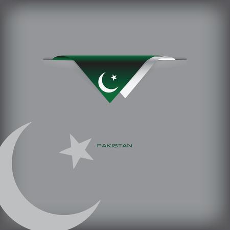 The combination of colors of the national flag Pakistan. Ilustração