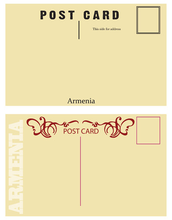 Vintage postcards Armenia for placing messages and addresses. Stok Fotoğraf - 74355959