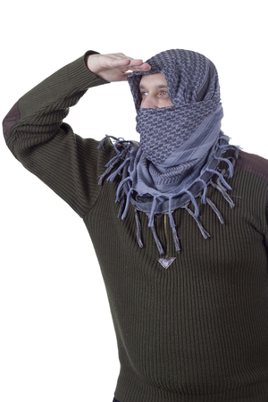 Adult Arabic man looking into the distance Stock Photo