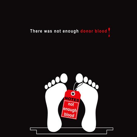 Er was niet genoeg donorbloed. Vector