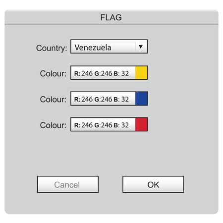 Colored laying of the national flag Venezuela Ilustração