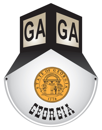 Vintage street sign for the state of Georgia Vector illustration.