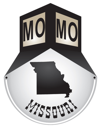 Vintage street sign for the state of Missouri.