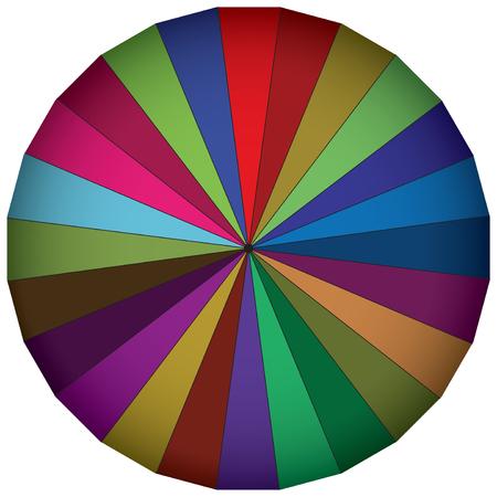 Multi-colored wheel illustration.
