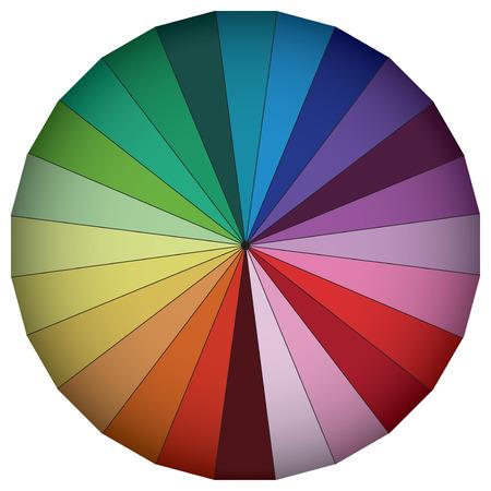 Rainbow umbrella with a large number of segments Ilustração