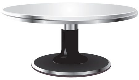 Turntable steel surface stand for cakes
