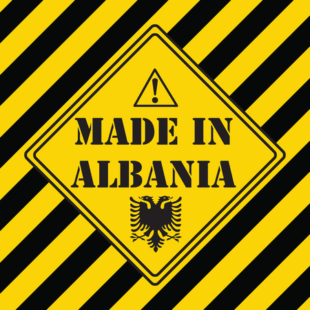 The industrial symbol is made in Albania