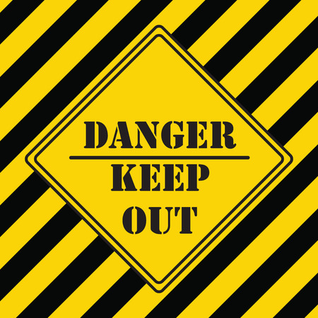 Danger keep out - construction area keep out Illustration