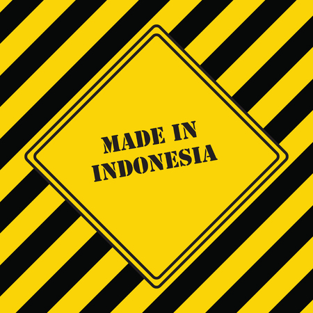 The industrial symbol is made in Indonesia