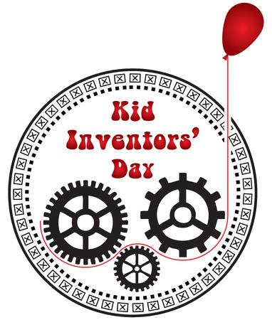 17 January Kid Inventors Day Vector illustration. Illustration