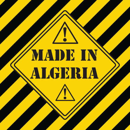 The industrial symbol is made in Algeria